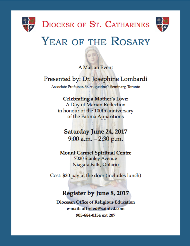 Diocese of St. Catharines on June 24 Josephine Lombardi