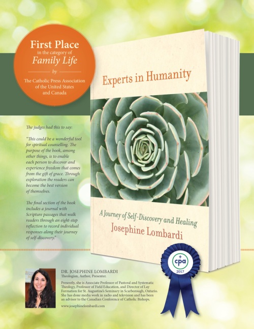 FIRST PLACE in the category of Family Life Experts in Humanity, Josephine Lombardi